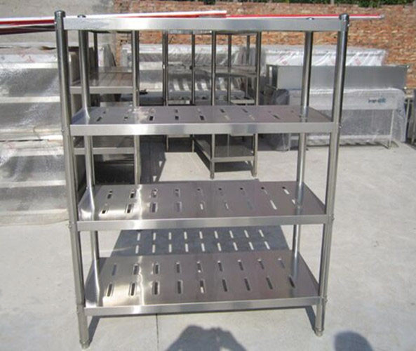 Customized Commercial Restarant / Supermarket Stainless Steel Display Racks Light duty structure