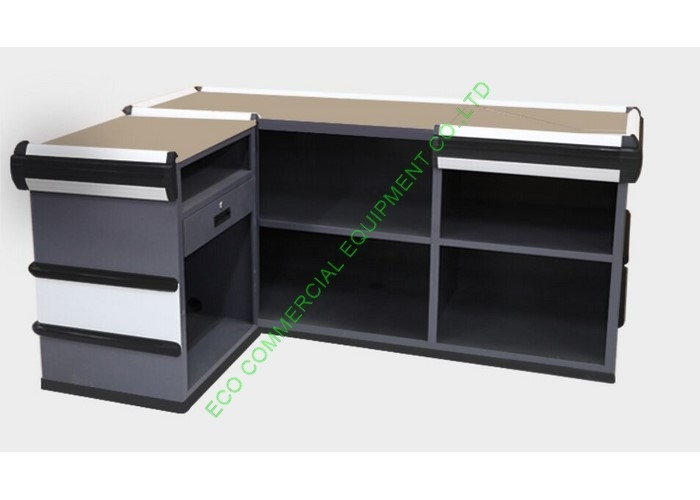 Retail Shop Cash Counter Table Equipment / Supermarket Money Counter For Billing